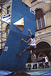 Paul Brouard in the Lecco BOuldering World Cup, 2002