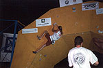 Lisa Rands, winner of the womens Bouldering Worlds Cup, Lecco 2002