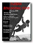 More information on Durban bouldering competition.